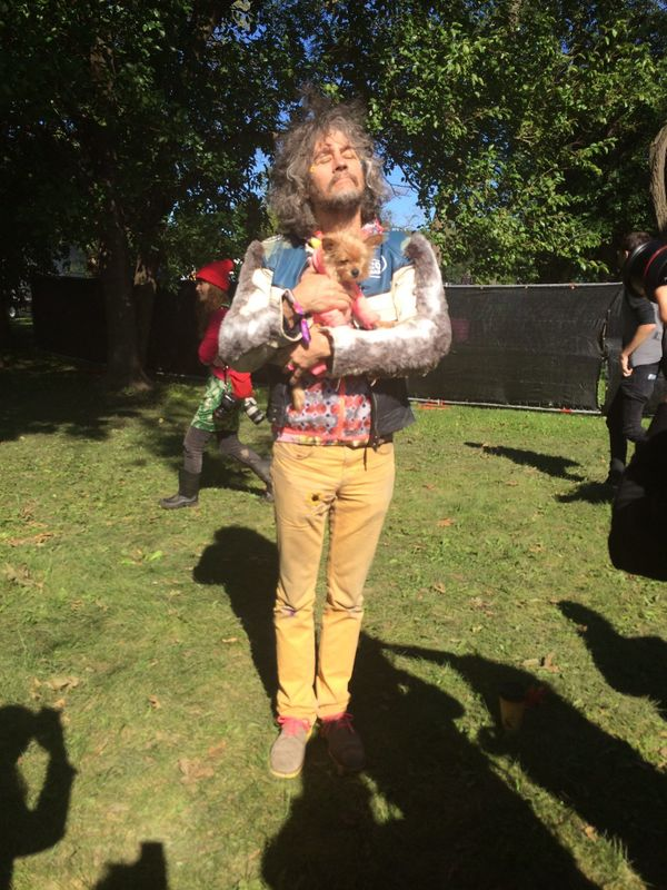 No dogs allowed at Riot Fest -- unless you're Wayne Coyne of The Flaming Lips and your dog is the one-eyed rescue, Lillian.