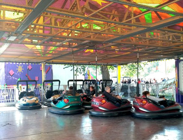 Frustrated after someone bumped into you and made you spill your $7 beer? These bumper cars gave festival-goers a helpful out