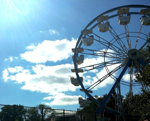 Riot Fest revelers enjoyed not just one, but (new this year) <i>two</i> Ferris wheels overlooking the festival's main stages.