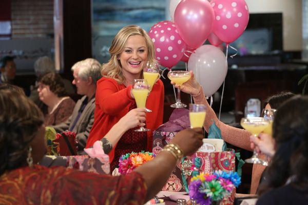 """Ain't no party like a Leslie Knope party, 'cause a Leslie Knope party is 30 parties."""