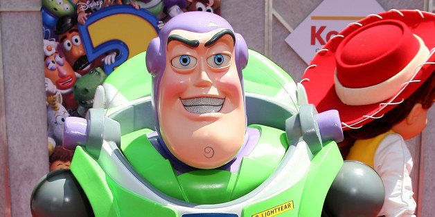 Buzz Lightyear arrives at the Premiere of Disney Pixar ' Toy Story 3' in Hollywood, on June 13, 2010. AFP PHOTO/ VALERIE MACO