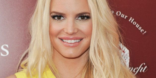 Jessica Simpson arrives at the 11th Annual John Varvatos Stuart House Benefit on Sunday, April 13, 2014, in West Hollywood, C