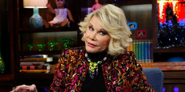 """FILE -  This Feb. 16, 2012 file photograph originally released by Bravo shows Joan Rivers appearng on Bravo's """"Watch What Hap"""