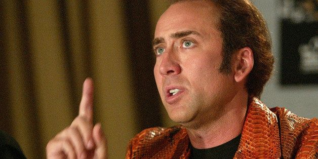 TORONTO - SEPTEMBER 5:  Actor Nicolas Cage answers a question during a media conference for the film Matchstick Men at the To