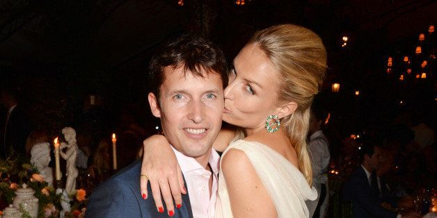 WINDSOR, ENGLAND - SEPTEMBER 04:  PREMIUM PRICING APPLIES.   James Blunt (L) and Sofia Wellesley attend the Woodside End of S