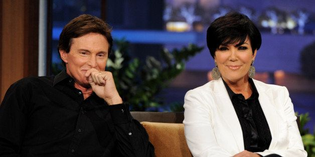 BURBANK, CA - JUNE 10:  Television personalities Bruce Jenner (L) and his wife Kris Jenner appear on The Tonight Show with Ja