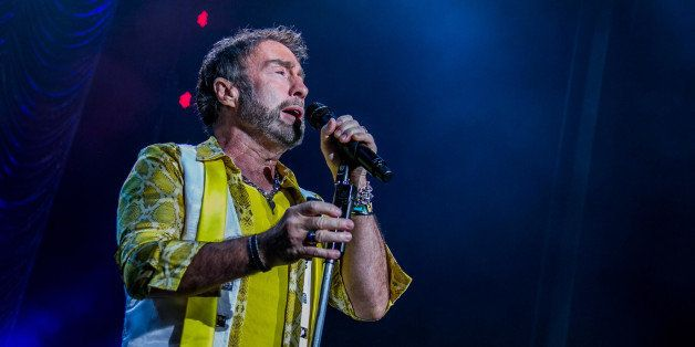 CLARKSTON, MI - JULY 25:  Paul Rodgers of Bad Co. performs at DTE Energy Music Theater on July 25, 2014 in Clarkston, Michiga