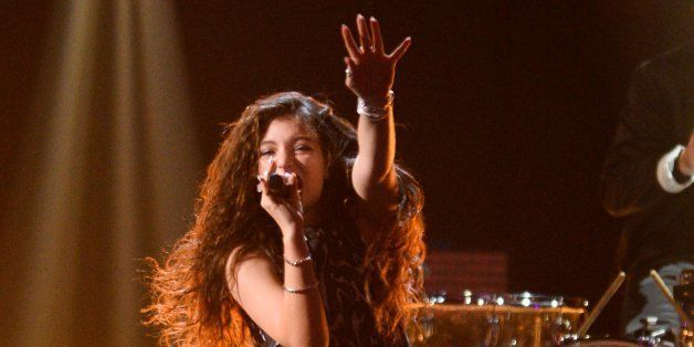 Lorde performs at the iHeartRadio Music Festival on Saturday, Sept. 20, 2014, in Las Vegas. (Photo by Al Powers/Powers Imager