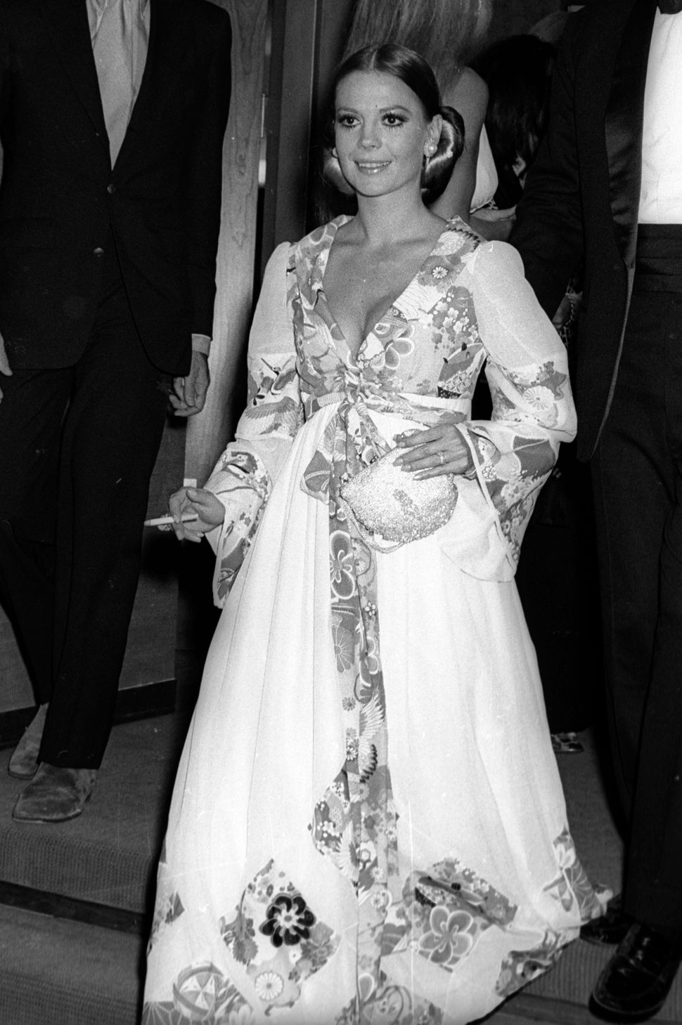 Actress Natalie Wood attends the opening of the New York Film Festival on Sept. 16, 1969 in New York City. (Photo by Ron Gale