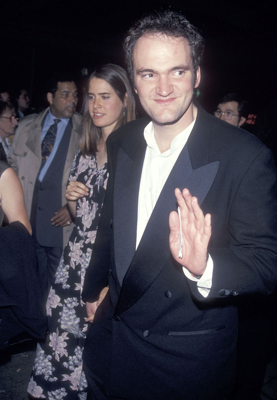 Director Quentin Tarantino and date Grace Lovelace attend the 32nd Annual New York Film Festival Opening Night - 'Pulp Fictio