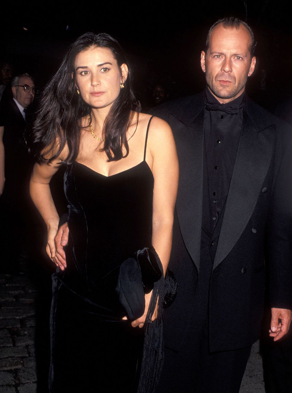 Actress Demi Moore and actor Bruce Willis attend the 32nd Annual New York Film Festival Opening Night - 'Pulp Fiction' Screen