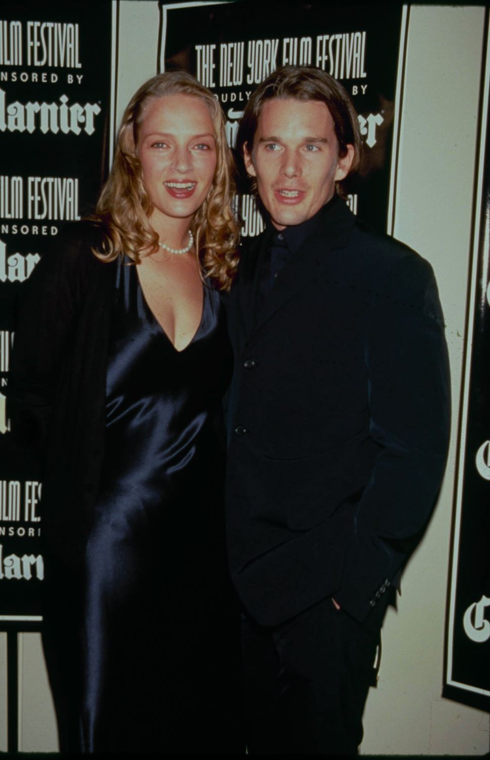 Sept. 25, 1998: Actress Uma Thurman and husband Ethan Hawke arrive for the opening of the 36th New York Film Festival at Linc