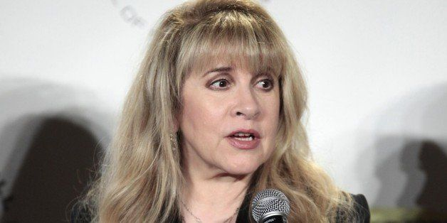 Stevie Nicks appears in the press room at the 2014 Rock and Roll Hall of Fame Induction Ceremony on Thursday, April, 10, 2014
