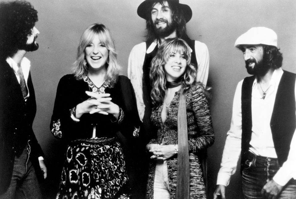 CIRCA 1977: (L-R) Lindsey Buckingham, Christine McVie, Mick Fleetwood, Stevie Nicks and John McVie of the rock group 'Fleetwo