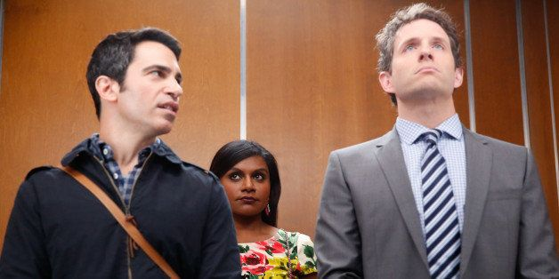 THE MINDY PROJECT -- 'Crimes & Misdemeanors & Ex-BFs' Episode 302 -- Pictured: (l-r) Chris Messina as Danny Castellano, Mindy
