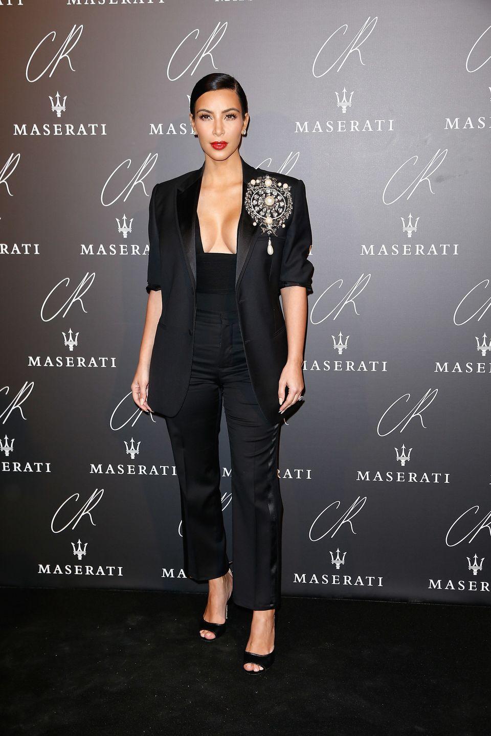 PARIS, FRANCE - SEPTEMBER 30:  Kim Kardashian attends CR Fashion Book Issue N°5 : Launch Party as part of the Paris Fashion