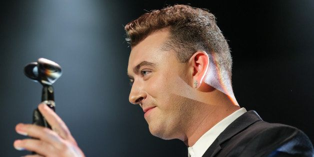 LOS ANGELES, CA - SEPTEMBER 29:  Vocalist Sam Smith performs at The Greek Theatre on September 29, 2014 in Los Angeles, Calif