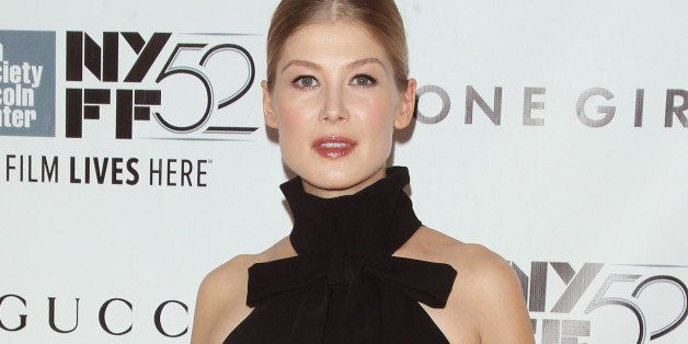 NEW YORK, NY - SEPTEMBER 26:  Actress Rosamund Pike attends the 52nd New York Film Festival Opening Night Gala Presentation a