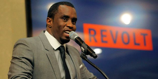"""Sean """"Diddy"""" Combs of the new network Revolt TV addresses reporters at the Television Critics Association summer press tour a"""