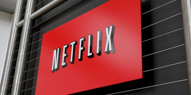 The Netflix company logo is seen at Netflix headquarters in Los Gatos, CA on Wednesday, April 13, 2011.   AFP PHOTO / Ryan An