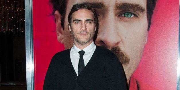 LOS ANGELES, CA - DECEMBER 12:  Actor Joaquin Phoenix attends the premiere of Warner Bros. Pictures' 'Her.' at DGA Theater on