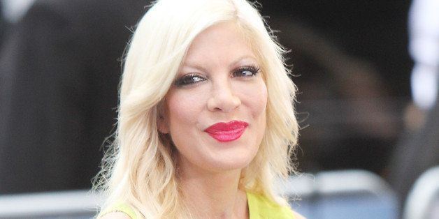 NEW YORK, NY - JUNE 25: Tori Spelling at Good Morning America promoting the new ABC Family Movie, 'Mystery Girls' on June 25,