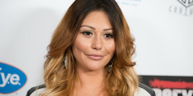 NEW YORK, NY - AUGUST 19:  Executive Producer Jenni 'JWoww' Farley attends the 'Jersey Shore Massacre' New York Premiere at A