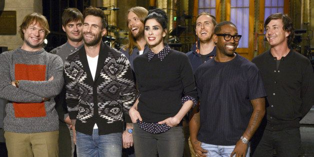 SATURDAY NIGHT LIVE -- 'Sarah Silverman' Episode 1664 -- Pictured: (l-r) Mickey Madden, Adam Levine, James Valentine, Jesse C
