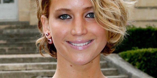 PARIS, FRANCE - JULY 07:  Actress Jennifer Lawrence attends the Christian Dior show as part of Paris Fashion Week - Haute Cou