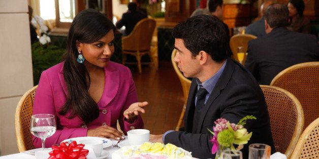 THE MINDY PROJECT -- 'Annette Castellano is My Nemesis' Episode 303 -- Pictured: (l-r) Mindy Kaling as Mindy Lahiri, Chris Me
