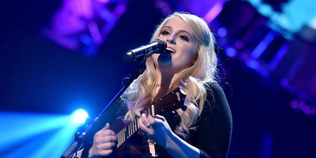 LAS VEGAS, NV - SEPTEMBER 20:  Recording artist Meghan Trainor performs onstage during the 2014 iHeartRadio Music Festival at