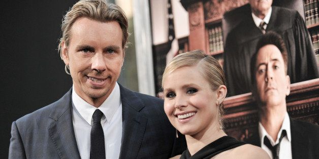 """Dax Shepard, left, and Kristen Bell arrive at the LA Premiere OF """"The Judge"""" on Wednesday, Oct 1, 2014, in Beverly Hills, Cal"""
