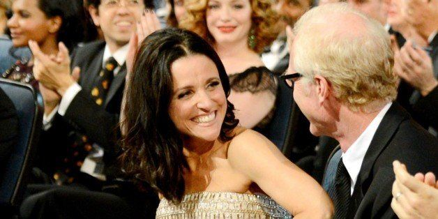 Julia Louis-Dreyfus is seen at the 65th Primetime Emmy Awards at Nokia Theatre on Sunday Sept. 22, 2013, in Los Angeles.  (Ph