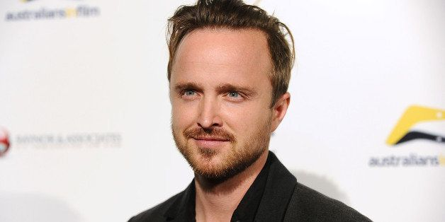 LOS ANGELES, CA - OCTOBER 16:  Actor Aaron Paul attends the premiere of 'Felony' at Harmony Gold Theatre on October 16, 2014