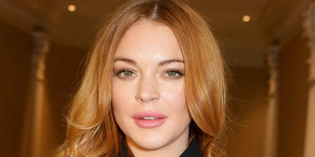 LONDON, ENGLAND - OCTOBER 13:  Lindsay Lohan attends The 59th Women of the Year Lunch at the InterContinental Park Lane Hotel