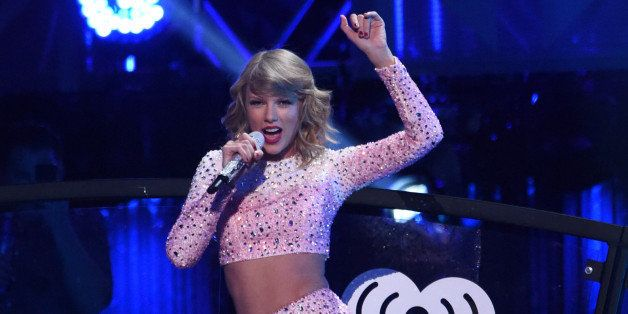 LAS VEGAS, NV - SEPTEMBER 19:  Recording artist Taylor Swift performs onstage during the 2014 iHeartRadio Music Festival at t
