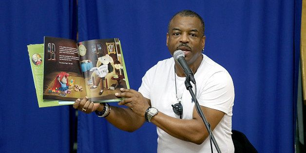 AUSTIN, TX - OCTOBER 24:  LeVar Burton reads from and signs copies of his new book 'The Rhino That Swollowed A Storm' at Book