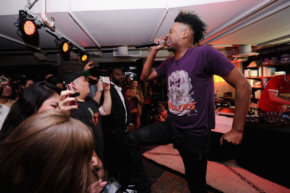 NEW YORK, NY - OCTOBER 02:  Rapper Danny Brown performs onstage at An Evening With Danny Brown Presented By Sonos And Pandora