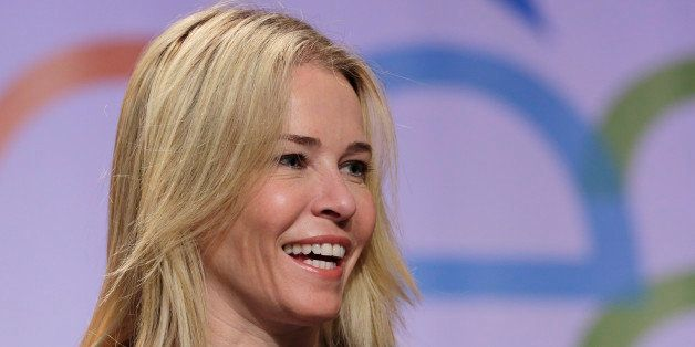Comedian, actress and author Chelsea Handler poses for photos at Book Expo America, Thursday, May 30, 2013 in New York.  (AP