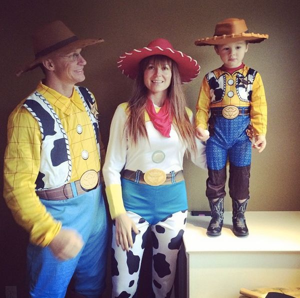 Happy Halloween from our family to yours! @typbr & Kase make a pretty good Woody! (& I'm Jessie of course)