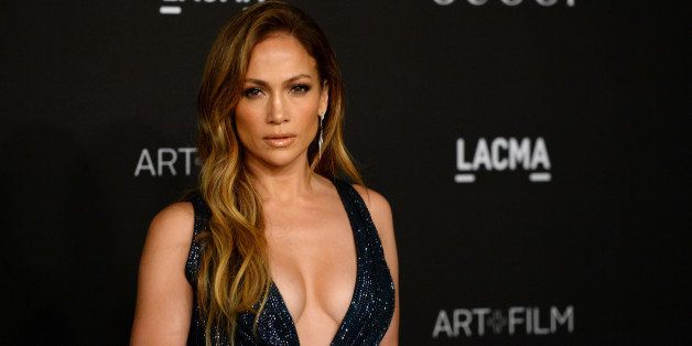 Jennifer Lopez arrives at the LACMA Art + Film Gala at LACMA on Saturday, Nov. 1, 2014, in Los Angeles. (Photo by Jordan Stra