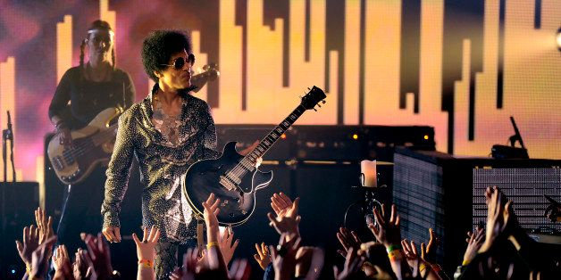 VANCOUVER, BC - APRIL 15:  (Exclusive Coverage) Prince and 3RDEYEGIRL perform at Vogue Theatre on April 15, 2013 in Vancouver