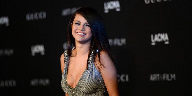 Selena Gomez arrives at the LACMA Art + Film Gala at LACMA on Saturday, Nov. 1, 2014, in Los Angeles. (Photo by Jordan Straus