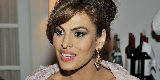LOS ANGELES, CA - MARCH 18:  Actress Eva Mendes attends Eva Mendes Exclusively at New York & Company Spring launch dinner at
