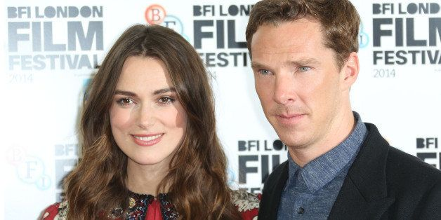 British actors Benedict Cumberbatch and Keira Knightley pose for photographers during the photo call of the film The Imitatio
