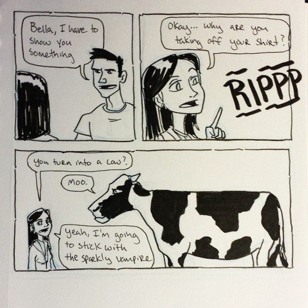 A young man tries to win a girl's heart with his new found bovine transformation skill. It doesn't go his way.