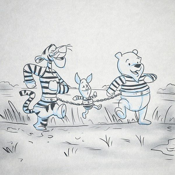 Convicted felon, Winnie, breaks out of jail with the help of his prison mates Tigger and Piglet, and set off on a cross-state