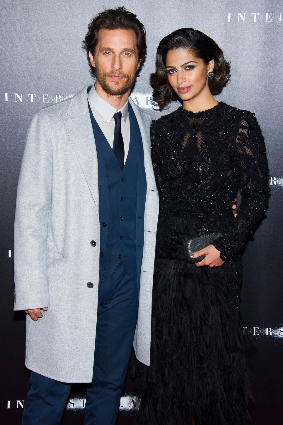 "Matthew McConaughey and Camila Alves attend the ""Interstellar"" premiere on Monday, Nov. 3, 2014 in New York. (Photo by Charle"