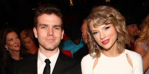 LAS VEGAS, NV - APRIL 06:  Austin Swift (L) and recording artist Taylor Swift attend the 49th Annual Academy of Country Music