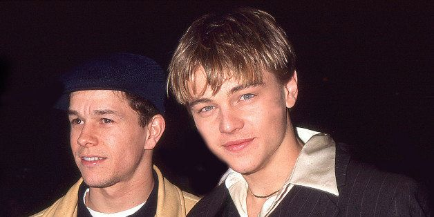 Actors Mark Wahlberg and Leonard DiCaprio attend the film premiere of Jim Carroll's 'The Basketball Diaries', New York, New Y